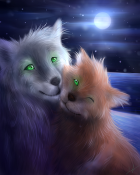 Faolan and Edme by Leafwhisper44