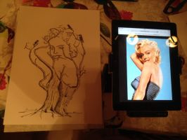 Marilyn Pin up tree by Jylm75