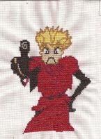Vash the Stampede Cross Stitch by lucky-meryl