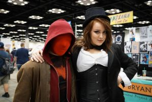 Indiana Comic Con Red Hood and Zatanna by SirKirkules