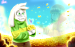 Asriel from Glitchtale! by CamilaAnims