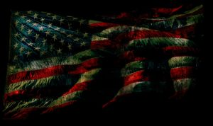 Grunge American Flag Wallpaper by designerfied