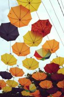 umbrella roof by Puna-Must-Valge
