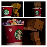 danbo and his starbucks-cup by ineos
