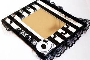 Nightmare Before Christmas Jack Skellington Mirror by PrincessAnathema13
