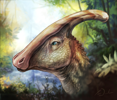 Parasaurolophus Painting by charfade