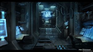 Command center interior by alexdrummo