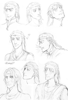 Hawl faces -sketchdump- by Eninaj27
