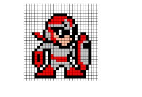 Protoman sprite by songofstorms422