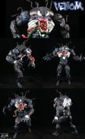 Comic Style Venom Figure by Jin-Saotome