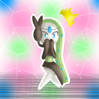 Meloetta Sorprendida Artwork by michelle09465