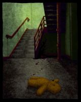 Beneath the Stairs (color) by baconworm