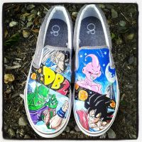 Custom DBZ shoes by societymisfit