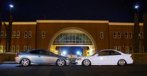 Lui's RSX and Addy's Civic by molivera707