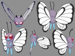 Low Poly Butterfree by Animaleante