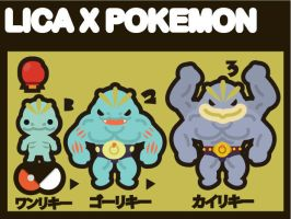 LICA x POKEMON MACHOP by bunnypistol69