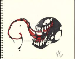 venom drawing by xx510allen