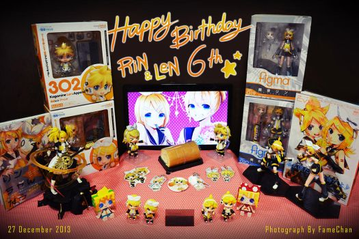 HBDRin and Len6th by famechan