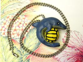 Water Polo Dolphin Necklace by lemon-stockings