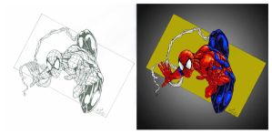 Spider-man Pencil2Color by ChargedGraphite
