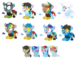 Discord x Rainbow Dash Breedable Offspring - 1/12 by SchattenspielKat