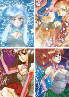 inner senshi ACEO cards by Ikanu96