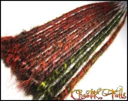 Autumn Inspired Synthetic Dreads by ChaotikFalls