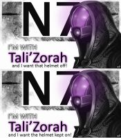 Tali'Zorah's Helmet Debate by IMAGINeye