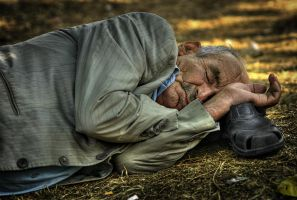 sleeping on Street II by alijabbar