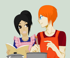 Cooking Together by MimitheEchidna1