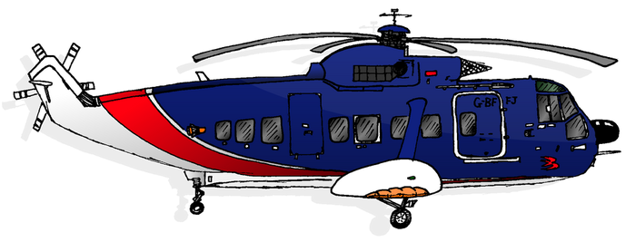 Helicopter Sketch by michael-brown