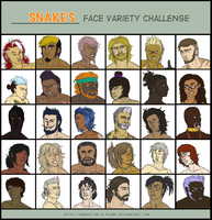 Face variety challenge, Ghosttowns style by snakes-on-a-plane