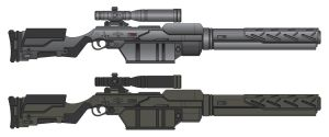 Futuristic Rifle by BIG-J0N