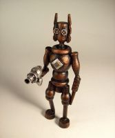 Evil Steampunk Robot w Ray Gun by buildersstudio