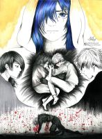 Day 3: Lovers (Tokyo Ghoul) by Aty-S-Behsam