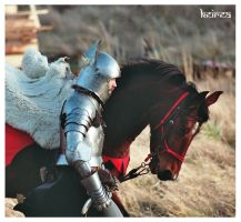 Knight with horse by Keirea