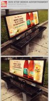 Bus Stop Bench Advertisement Mockup Templates by loswl