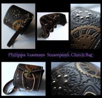 Leather Steampunk Clutch Handbag by TheGoddess908