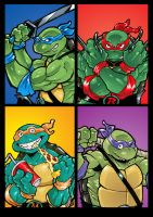 4 NINJA TURTLES by Joelchan