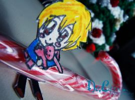 Hunny-sempi paper child 'candy-cane' by ChainOfLight