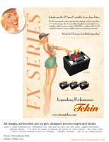 Tekin FX pin-up girl mag ad by warballoon