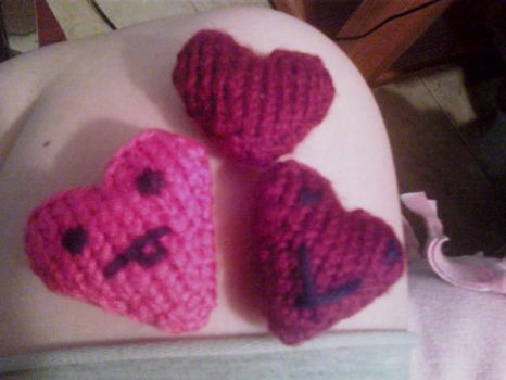 Knitted Hearts by CraftyRisa