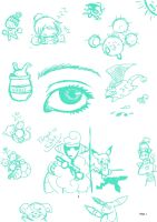 Targets, an eye, and Doodles by SuperHeroPattyFatty