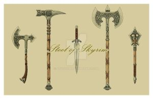 Steel Weapons: Skyrim Series by AOvsepian