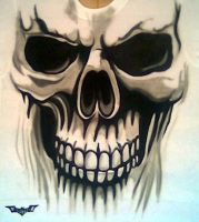 SKULL AIRBRUSHED by javiercr69