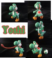Yoshi Sculpture: Collage by ClayPita