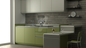 Kitchen Minimalist Blender Cycles 4000 Sampels by str9led