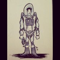 Inktober 28 - Space Cadet by Yeti-Labs