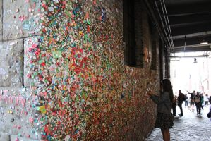 Wall of Gum by eillahwolf