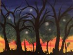 Woods at Dusk by Artfoundry